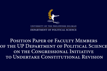 Position Paper On The Anti Terror Bill Sb 1083 Hb 6875 By Faculty Members Of The Up Department Of Political Science Department Of Political Science University Of The Philippines Diliman